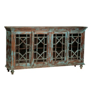 Indian Teak Wood Buffet For Sale