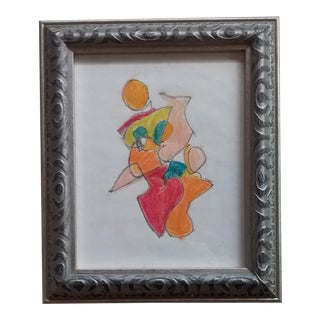 Figurative Abstract Drawing For Sale