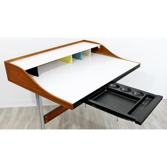 Herman Miller Mid-Century Modern Early Production George Nelson Herman Miller Swag Leg Desk For Sale - Image 4 of 13