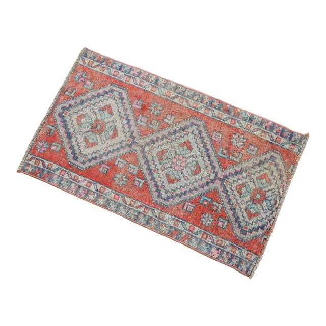 Hand Knotted Door Mat, Entryway Rug, Bath Mat, Kitchen Decor, Small Rug, Turkish Rug - 1′7″ × 2′7″ For Sale