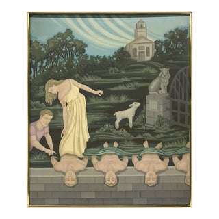 1970s Painting by Chicago Artist Kennet Hempel For Sale