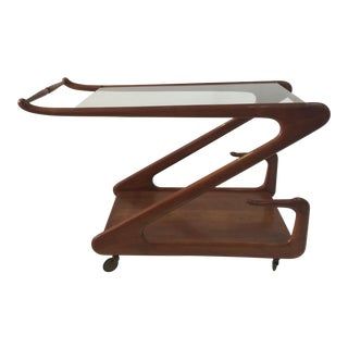 Ico Parisi Style Modern Era Bar Cart For Sale