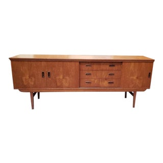 Danish Modern Teak Credenza C.1960s For Sale