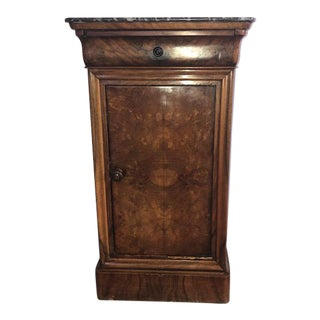 19th Century Traditional Marble Top End Table For Sale