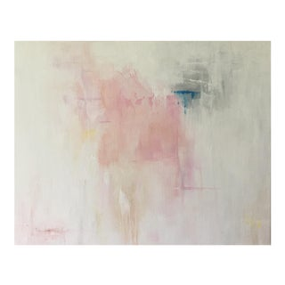 """Contemporary Acrylic Painting """"Pink Abstract I"""" by Ally Sheppard"""