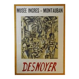 Vintage Desnoyer Framed Exhibition Poster For Sale