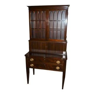 Antique Federal Style Mahogany Secretary For Sale