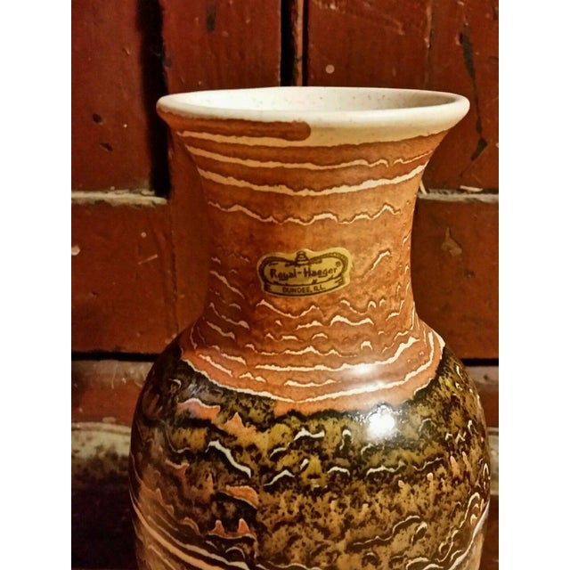 Royal Haeger Blue Lava Vase - Image 3 of 6