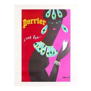 1977 Bernard Villemot Perrier Poster For Sale