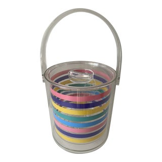 1980s Striped Ice Bucket For Sale