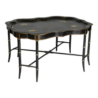 Victorian Tole Tray Coffee Table For Sale