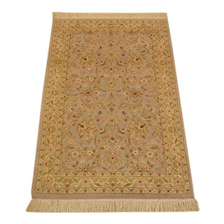 Oriental Wool Throw Area Rug - 3′ × 5′9″ For Sale