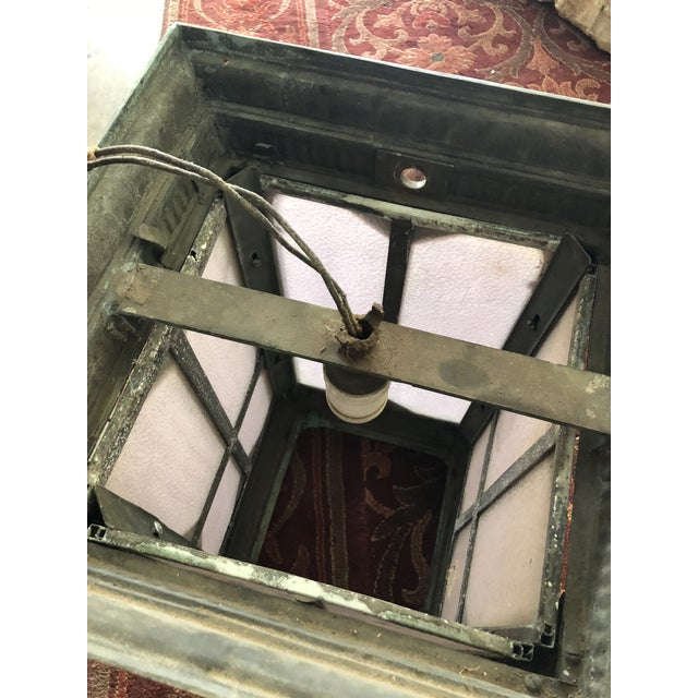 1910s Neoclassical Copper Lantern For Sale - Image 9 of 13