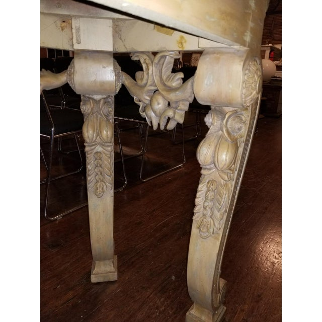 Tan Maitland-Smith Vintage Console Table For Sale - Image 8 of 11