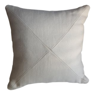 Contemporary White Canvas Pillow For Sale