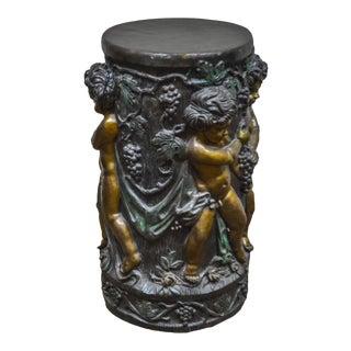 Rococo Style Bronze Pedestal w/ Cherubs