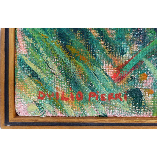 Late 20th Century Late 20th Century Landscape Oil on Canvas by Duilio Pierri For Sale - Image 5 of 8