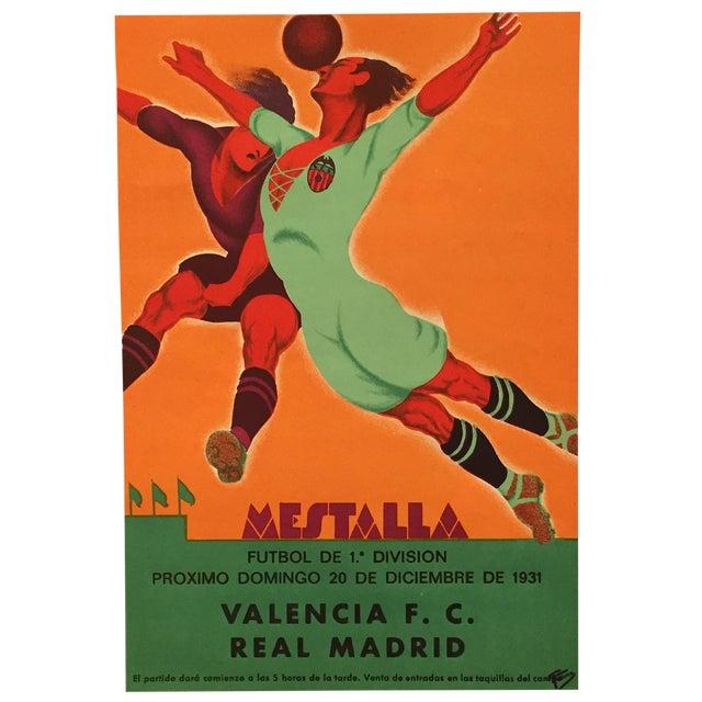 Original Vintage 1931 Spain Soccer Poster For Sale