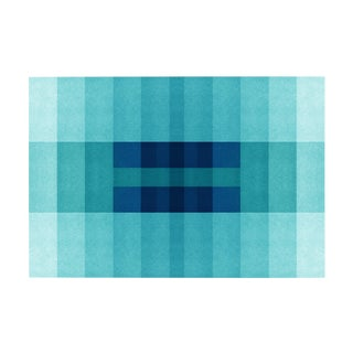 "Color Space Series 30 - Ocean Blue Gradient - Fine Art Print - 48"" X 36"" - by Jessica Poundstone For Sale"