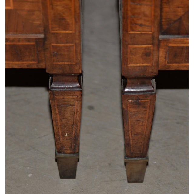 Walnut Pair of Magnificent Late 18th to Early 19th Century Walnut Side Tables W/ Cabinets For Sale - Image 7 of 9