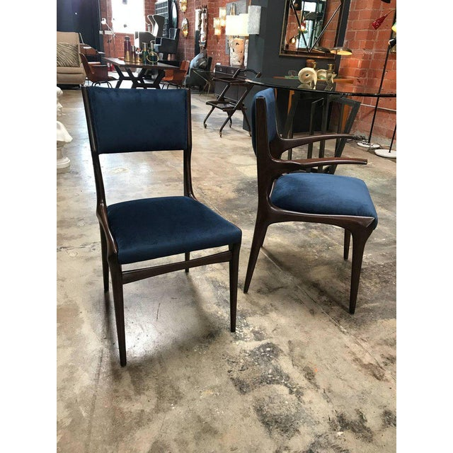 Italian Carlo de Carli Chairs Set of Eight Including Two Chairs with Armrest 1951 For Sale - Image 3 of 7