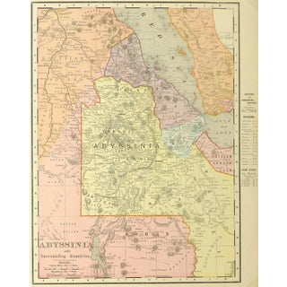 Antique Map of Ethiopia 1895 For Sale