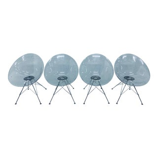 "Philippe Starck Ghost ""Eros"" Chairs for Kartell - Set of Four For Sale"