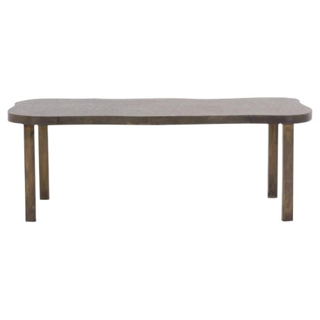 Bronze Coffee Table by Philip and Kelvin LaVerne For Sale