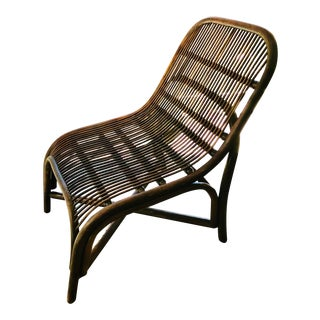 1960's Vintage Bamboo Lounge Chair For Sale