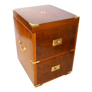 Campaign Style Chest & Liquor Cabinet For Sale