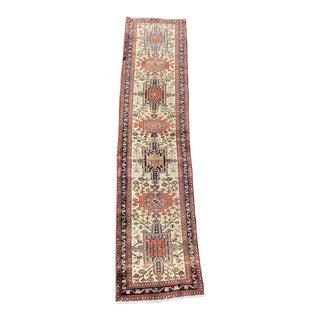 1970s Vintage Persian Karajeh Runner Rug - 2′ × 9′2″ For Sale