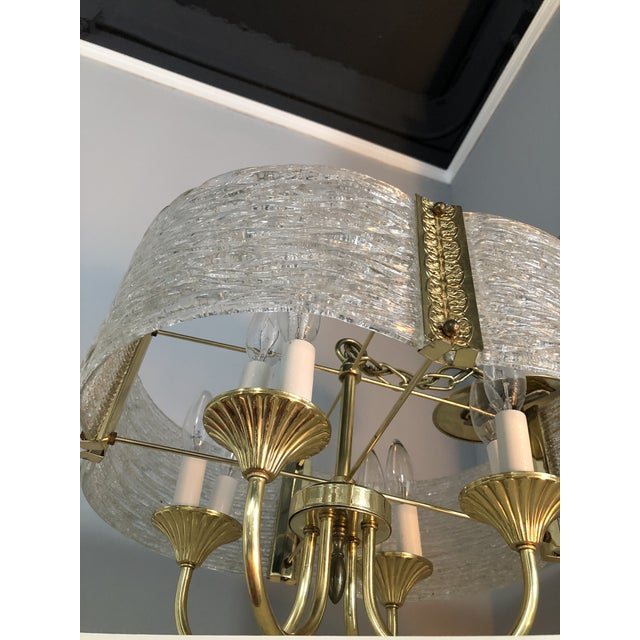 1970s 1970s Mid Century Modern Chandelier by Moe Light For Sale - Image 5 of 8