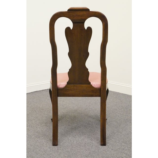 Late 20th Century Vintage Davis Cabinet Masters Collection Solid Mahogany Queen Anne Side Chair For Sale In Kansas City - Image 6 of 9