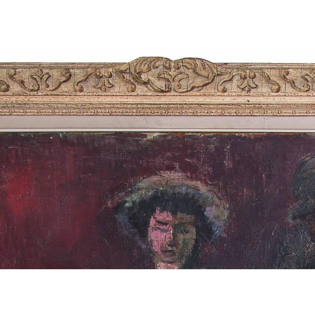 "Impressionist 1950s Original Oil Painting on Board ""Piano Player"" by Yetty For Sale - Image 3 of 4"
