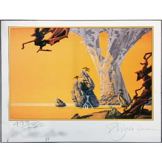 "Roger Dean ""Yes"" Surreal Landscape Lithograph Signed Numbered For Sale"