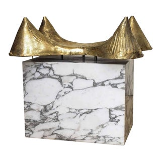 Bronze and Marble Table Base For Sale