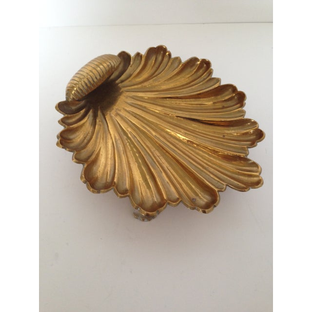Vintage Brass Shell Dish - Image 2 of 4