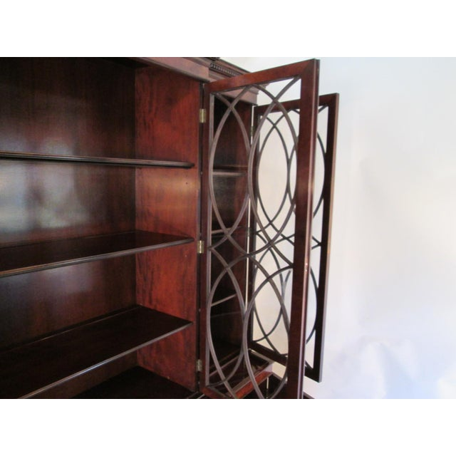 Old Colony Mahogany Breakfront Cabinet For Sale - Image 10 of 11
