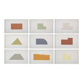 Contemporay Portfolio of Prints-Multiple Panel Print by Robert Mangold For Sale