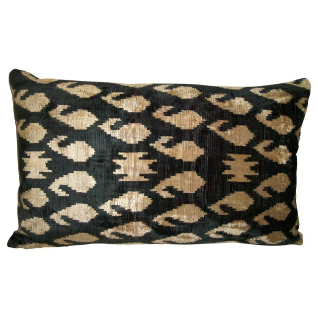 Vintage Silk Velvet Accent Pillow - Image 1 of 3