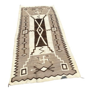 Native Anerican Navajo Blanket 10 Foot Storm Variant For Sale