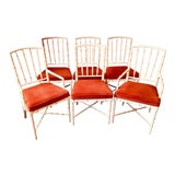 Image of Vintage Mid Century Hollywood Regency Drexel Heritage Faux Bamboo Chairs- Set of 6 For Sale