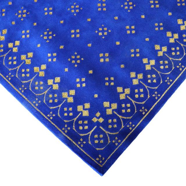 Custom Blue & Gold Stark Area Rug- 8′ × 10′ For Sale In San Francisco - Image 6 of 13