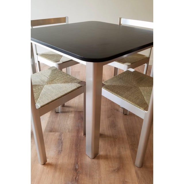Contemporary 1980s Hank Loewestein Italian Dining Table & Chairs For Sale - Image 3 of 13