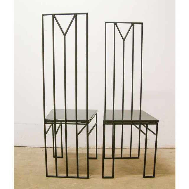 "1988 Maurice Beane Contemporary ""Retromac"" Chairs - A Pair For Sale - Image 5 of 11"
