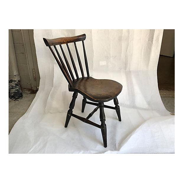 English Traditional English Child's Chair For Sale - Image 3 of 4