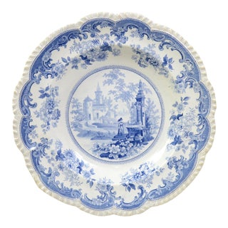"Antique ""French Scenery"" Transferware Bowl For Sale"