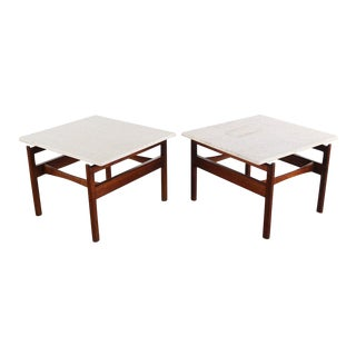 1960s Danish Modern Jens Risom Walnut End Tables - a Pair For Sale
