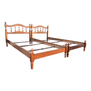 Petite Maple Twin Beds- a Pair For Sale