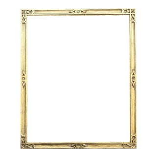 1920s American Arts and Crafts Carved Giltwood Frame, Braus Galleries For Sale